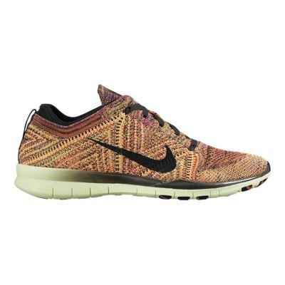 Nike Women's Free Flyknit TR Running Shoes - Orange/Black