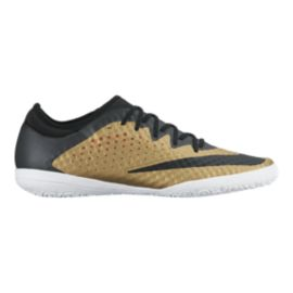 Nike Men's MercurialX Finale Indoor Soccer Shoes - Gold/Black/White