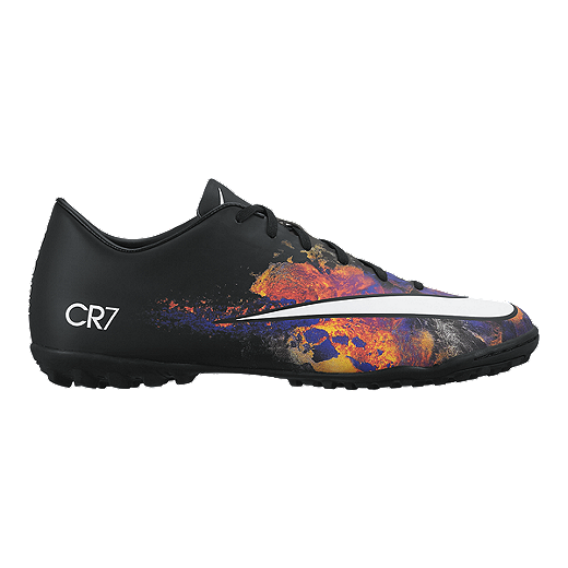 9a6a106d5a5 Nike Men s Mercurial CR7 Turf Indoor Soccer Shoes - Black Multi ...