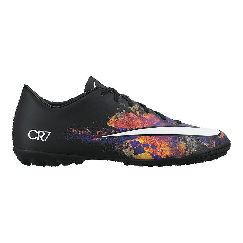 Nike Men s Mercurial CR7 Turf Indoor Soccer Shoes - Black Multi ... 00d923ce57