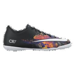 Nike Men s Mercurial CR7 Indoor Soccer Shoes - Black Multi White ... ba56e7fcef1f9
