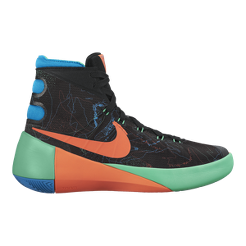 41a138fd6887 ... nike kids hyperdunk 2015 grade school basketball shoes black orange  blue sport chek