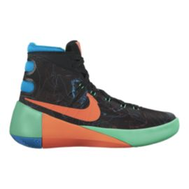 Nike Kids' HyperDunk 2015 Grade School Basketball Shoes - Black/Orange/Blue