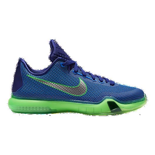 best website 8f512 f86af Nike Kids  Kobe 10 Grade School Basketball Shoes - Royal Silver Green    Sport Chek