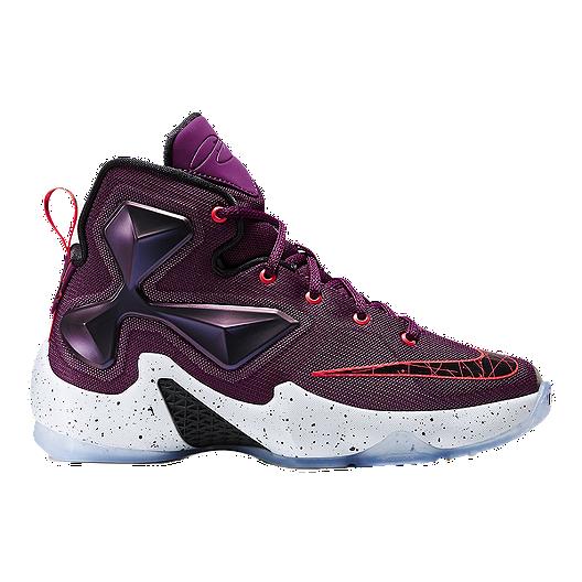 new product 269e6 9636c Nike Kids  LeBron XIII Grade School Basketball Shoes - Black Purple   Sport  Chek