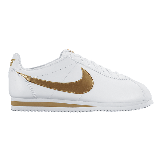 8a532307f Nike Women s Cortez Casual Shoes - White Gold