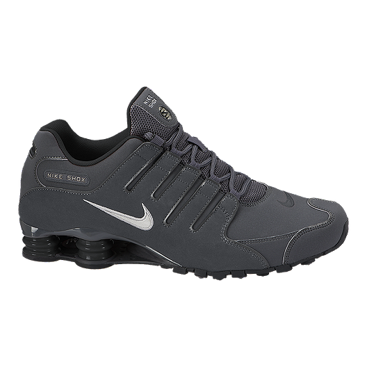 Nike Men s Shox NZ Shoes - Grey Black  04178e54e