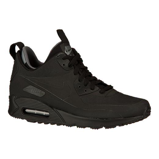 Nike Men's Air Max 90 Mid Casual Shoes Black   Sport Chek