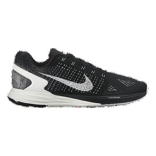 ea4ea648ff91 Nike Men s LunarGlide 7 Running Shoes - Black White