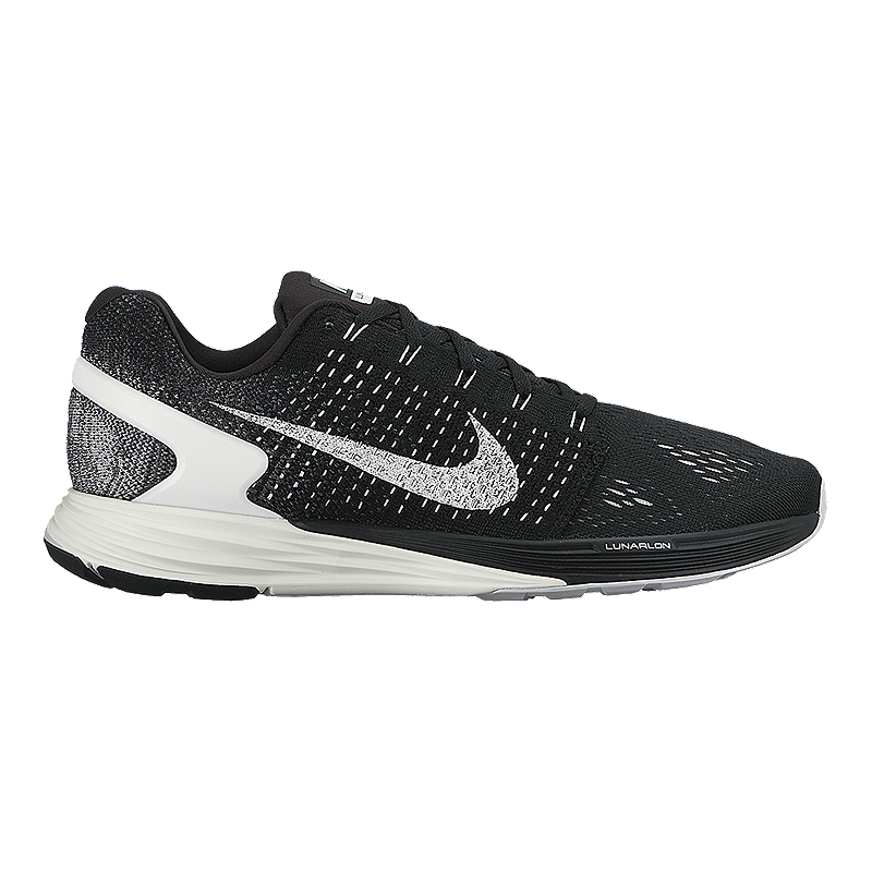 9cd14ae4ec5 Nike Men s LunarGlide 7 Running Shoes - Black White