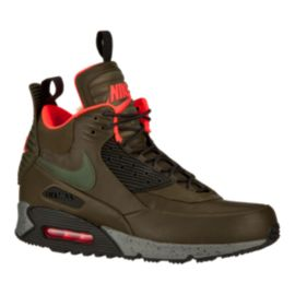 Nike Men's Air Max 90 SneakerBoot Winter Trend Boots - Olive Green/Black