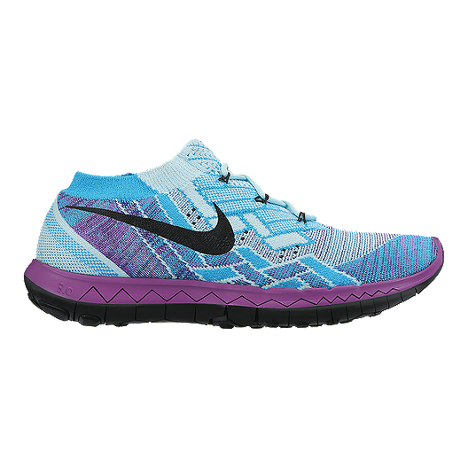 factory authentic 92ec3 4d317 Nike Women s Free 3.0 FlyKnit Running Shoes - Blue Purple Black   Sport Chek