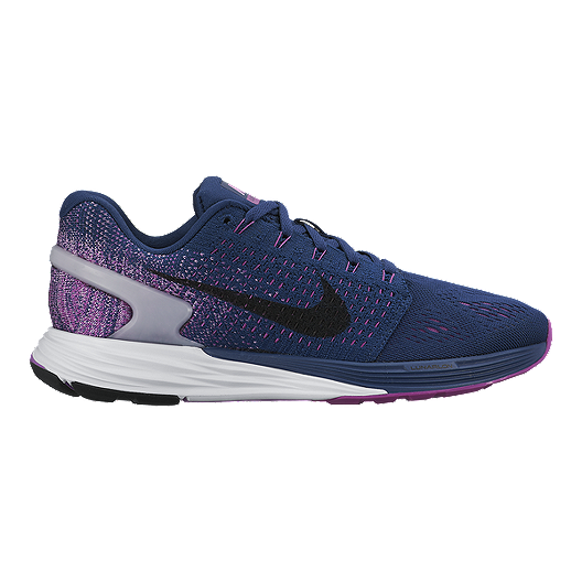brand new 609fe 0f03c Nike Women s LunarGlide 7 Running Shoes - Navy Blue Purple   Sport Chek