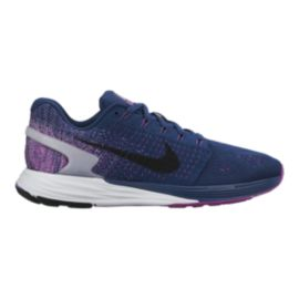 Nike Women's LunarGlide 7 Running Shoes - Navy Blue/Purple
