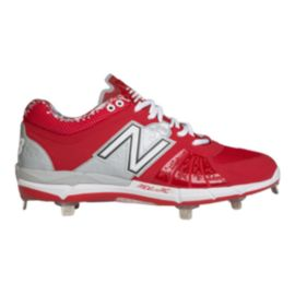 New Balance Men's L3000v2 D Metal Low Baseball Cleats - Red/White