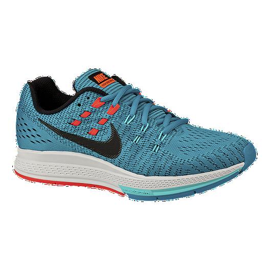 573e3e7bb8b Nike Women s Air Zoom Structure 19 Running Shoes - Blue Black Orange ...