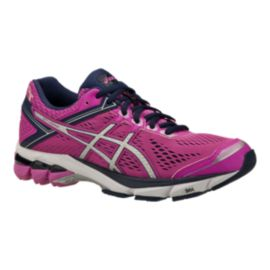 ASICS Women's GT-1000 4 PR Running Shoes - Pink/Navy Blue/Silver