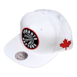 Toronto Raptors Full XL Logo Launch Snapback Cap - White