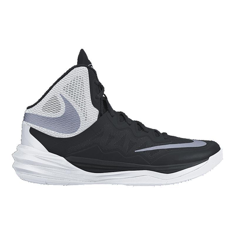 online store 88a07 7d6b8 Nike Women's Prime Hype 2 DF Basketball Shoes - Black/White