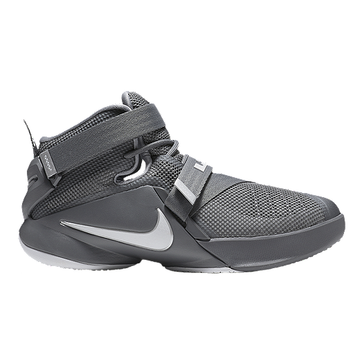 e73207c385f6 Nike Kids  LeBron Soldier IX Grade School Basketball Shoes - Grey ...