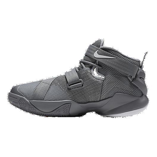 ef4985a6d27f Nike Kids  LeBron Soldier IX Grade School Basketball Shoes - Grey. (1).  View Description
