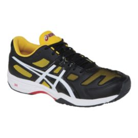 ASICS Gel Solution Slam 2 Men's Tennis Shoes - Black/White/Yellow