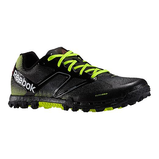 6283dcc3d Reebok Men s All Terrain Super Trail Running Shoes - Black Lime Green