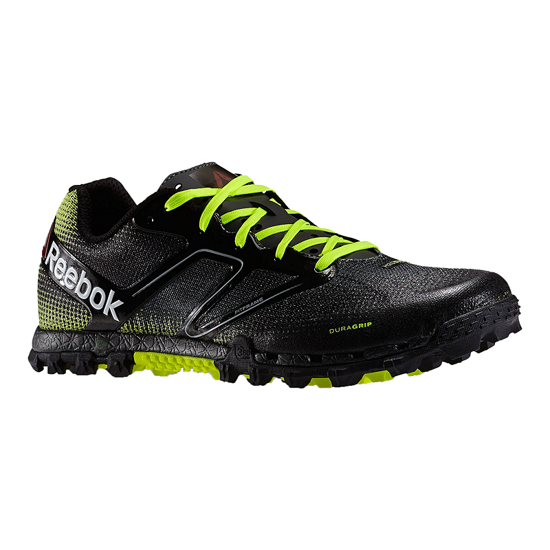 ce7e44c1366a Reebok Men s All Terrain Super Trail Running Shoes - Black Lime Green