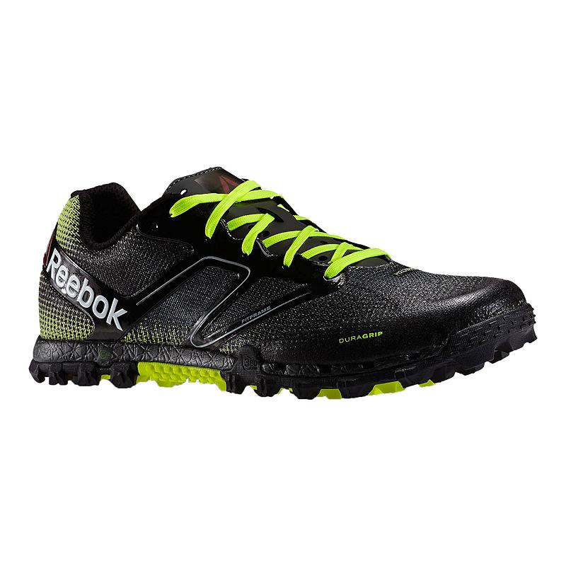 Reebok Men s All Terrain Super Trail Running Shoes - Black Lime Green  4a482c834