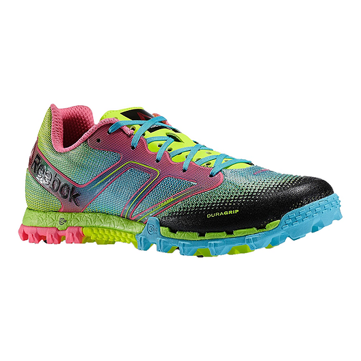 22a15fb70 Reebok Women s All Terrain Super Trail Running Shoes - Green Blue Pink  Pattern