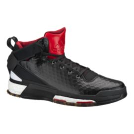 "adidas Men's D Rose 6 Boost ""Away"" Basketball Shoes - Black/Red"