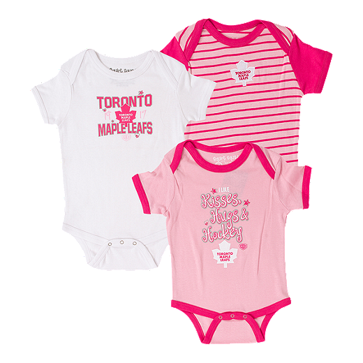 huge discount aed7a eeccb Toronto Maple Leafs Baby Girls' Lizzy 3 Piece Creeper Set ...