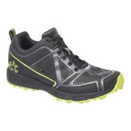 Icebug Men's DTS2 BUGrip Trail Running Shoes - Black/Silver/Lime Green