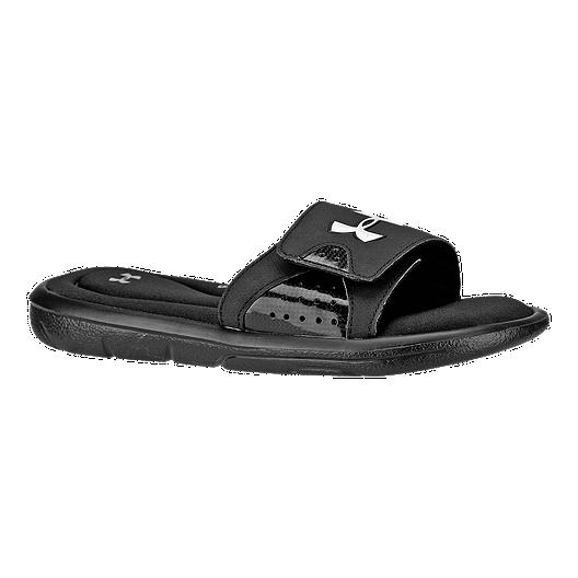 1aece4fa8 Under Armour Kids' Ignite IV SL Sandals - Black   Sport Chek