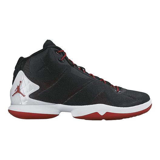 52619bc22072 Nike Men s Jordan Super.Fly 4 Basketball Shoes - Black White Red ...