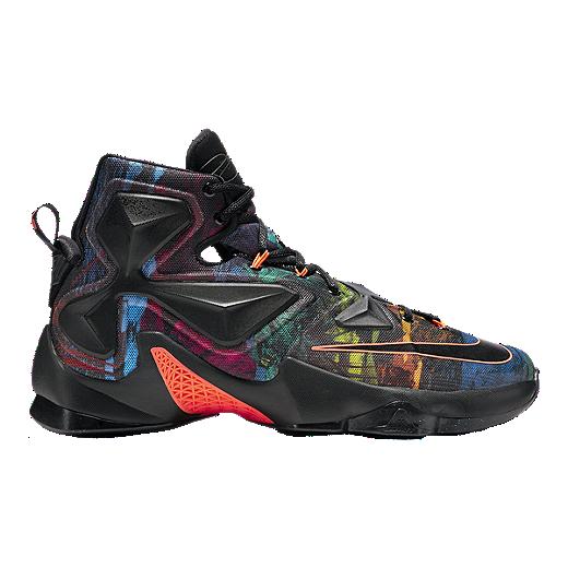 nike mens lebron xiii basketball shoes black multi pattern