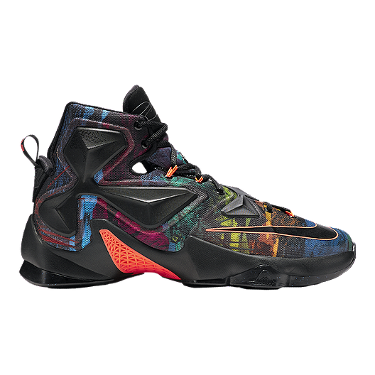 best website 7965a 43570 Nike Men s LeBron XIII Basketball Shoes - Black Multi Pattern   Sport Chek