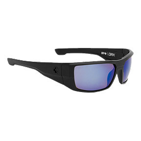 Spy Dirk Polarized Sunglasses - Matte Black with Happy Bronze Lenses with Blue Spectra