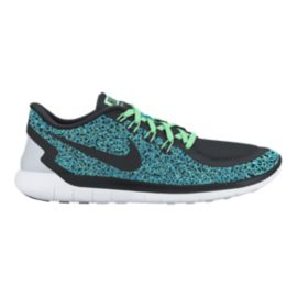 Nike Women's Free 5.0 2015 Print Running Shoes - Blue/Black/Green