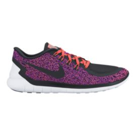 Nike Women's Free 5.0 2015 Print Running Shoes - Purple/Black/Orange