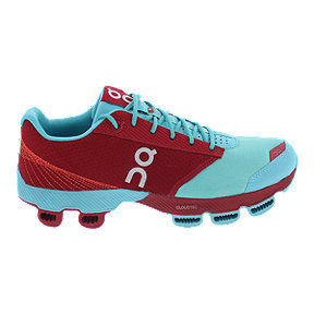 ON Women's Cloudster Running Shoes - Blue/Red
