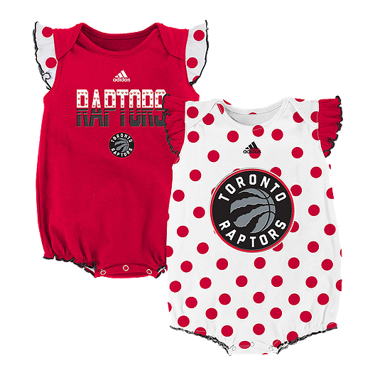 the best attitude c0353 c8a80 Toronto Raptors Baby Girls' Polka Fan 2 Pack Onesie | Sport Chek