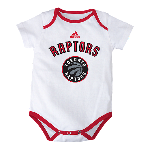 reputable site 44252 fe08e Toronto Raptors 3 Point Spread Baby Onesie Bodysuit Set ...