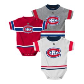 Montreal Canadiens Baby Jersey Creeper Set 3 - Pack