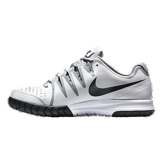 fbd98993de9ba Nike Men s Vapor Court Tennis Shoes - White Grey Black