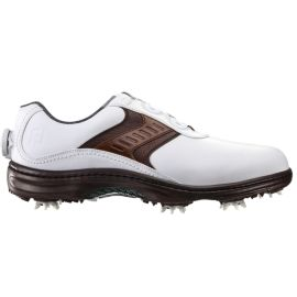 FootJoy Men's Contour Boa Golf Shoes - White/Brown