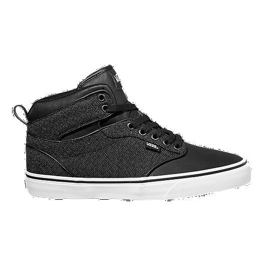 321f4a102bbf26 Vans Men s Atwood HI (Textile) Skate Shoes - Black White