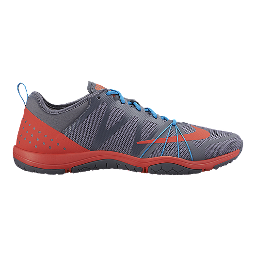 2b6f52f1b87 Nike Women s Free Cross Compete Training Shoes - Grey Orange Blue ...