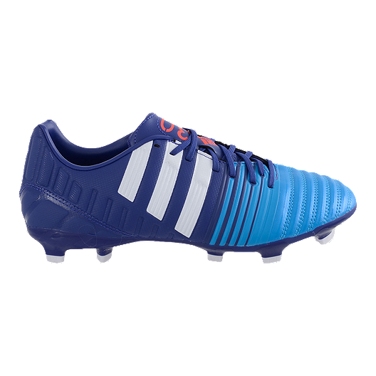 quality design 332e0 f8d79 adidas Men s NitroCharge 3.0 FG Outdoor Soccer Cleats - Purple Blue White    Sport Chek