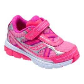Saucony Toddler Girls Baby Ride 7 Running Shoes - Pink